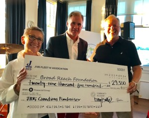 J105 Bid Cheque to Broad Reach Foundation 2019
